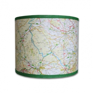 Map Lampshades by Mono Handmade